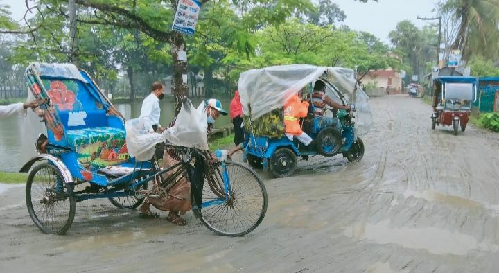 কাঁদায় একাকার পাথরঘাটা পৌর শহর