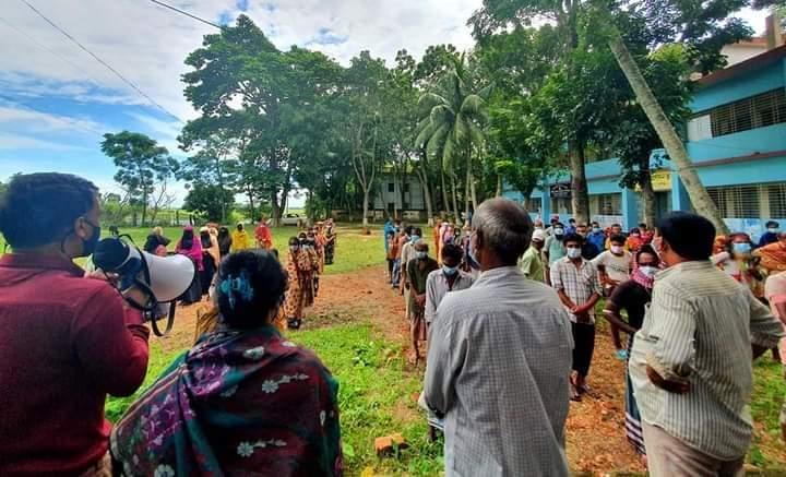 আজমিরীগঞ্জে অসহায়দের মাঝে আর্থিক সহায়তা প্রদান