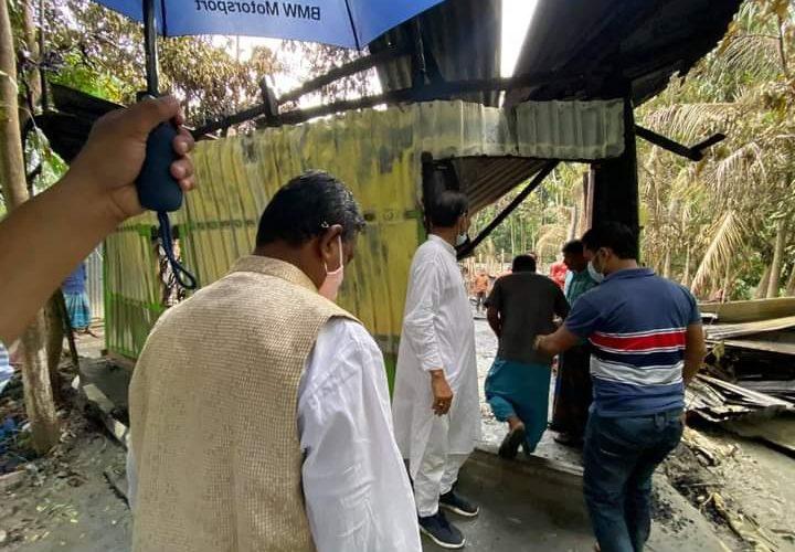 কোম্পানীগঞ্জে বিয়েবাড়িতে ৭টি বসতঘর পুড়ে ছাঁই