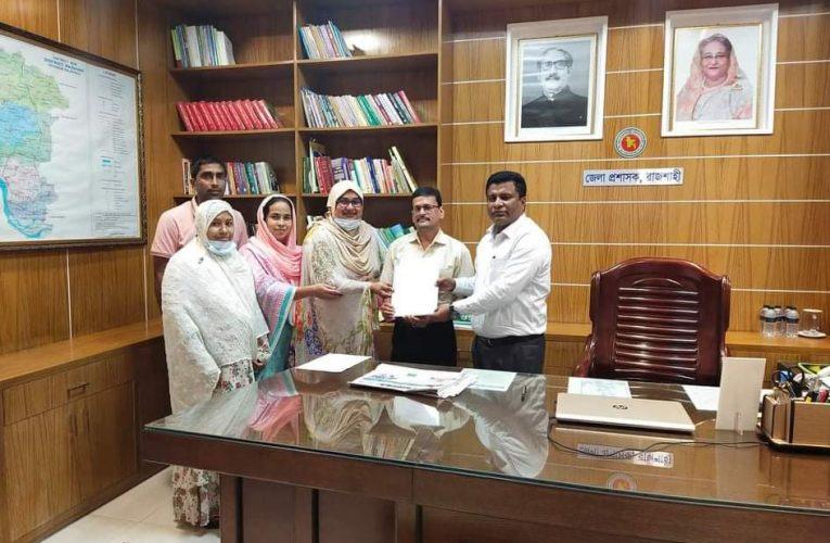 রাজশাহী জেলা প্রশাসকে স্মারকলিপি প্রদান করেন পিটিআই রাজশাহী